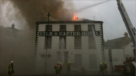 Fire at Star and Garter. Pic by Lothian and Borders Brigade