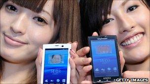 Models show off new Xperia smartphones