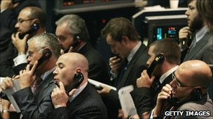 Traders at the London Metal Exchange