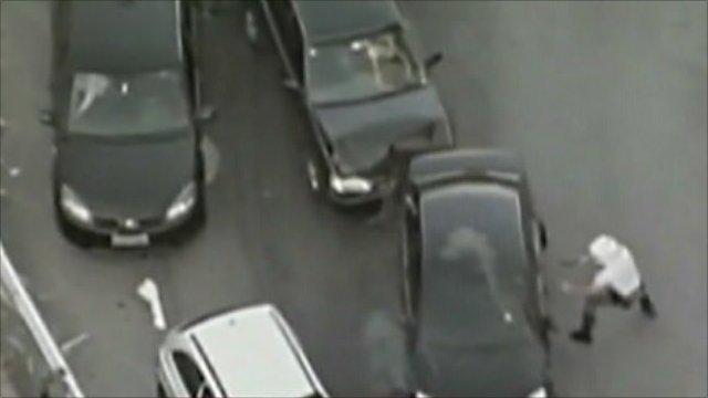 Car chase in Brazil