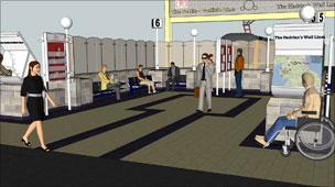 Artist's impression of improved station