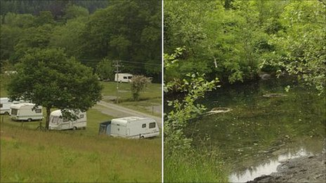 Campsite and river stills
