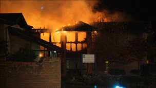 The fire at Culloden Court