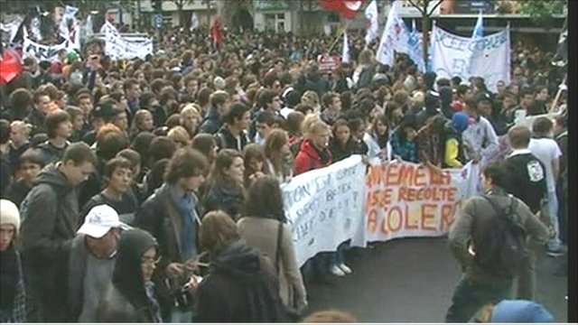 Protest march in Paris