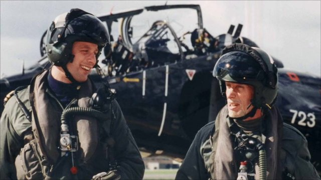 Harrier pilot Chris Ward and his father