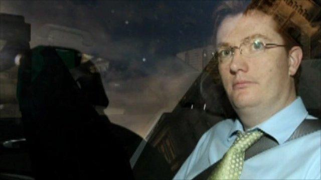Danny Alexander in his car