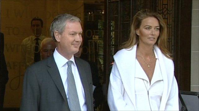 Katrin Radmacher and lawyer Simon Bruce