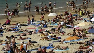 Holidaymakers in Spain