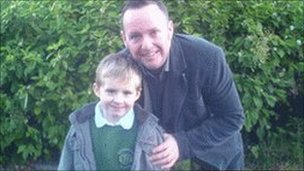 Isaac Hargreaves with father Darren