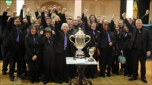 Wantage Silver 'A' Band winning the Borough of Hove trophy