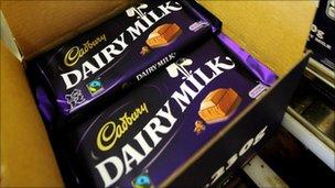 Cadbury chocolate bars