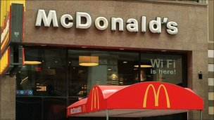 McDonald's outlet in New York City