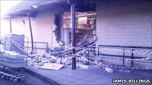 Damage to Co-Op store in Oundle