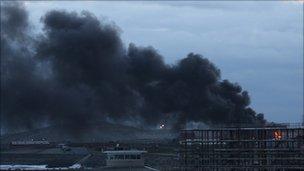 The fire in Hartlepool. Photo: Stan Laundon