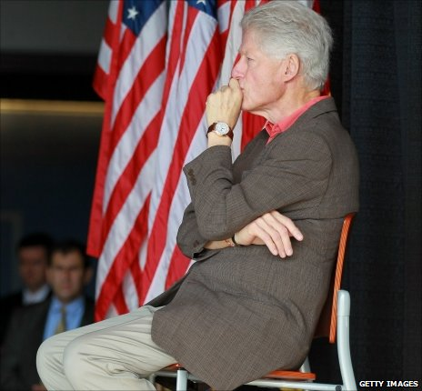 Bill Clinton campaigning in Florida