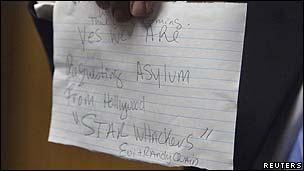 The Quaid's handwritten note