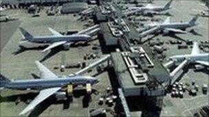 Aircraft at Heathrow airport