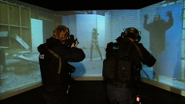 Police at firing range