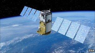 Artist's impression of Galileo satellite in orbit (Esa)