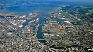 Belfast Port Aerial shot