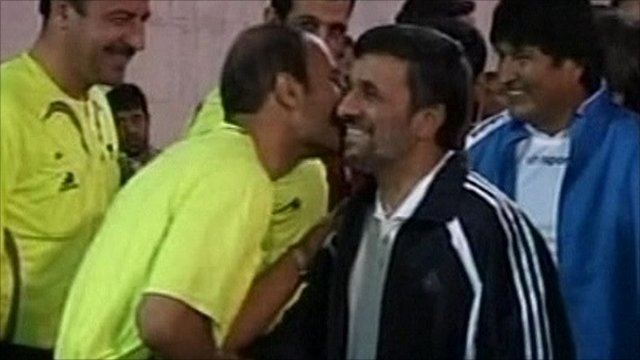 Mahmoud Ahmadinejad and Evo Morales