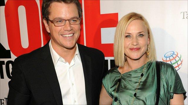 Matt Damon and Patricia Arquette