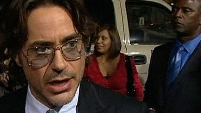 Robert Downey Jr at premiere