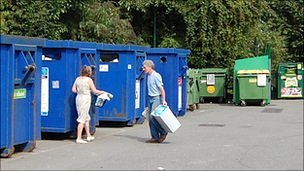 Recycling site in Guernsey