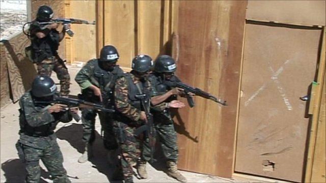 Yemeni police training
