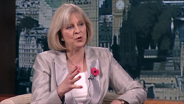 Home Secretary Theresa May on The Andrew Marr Show