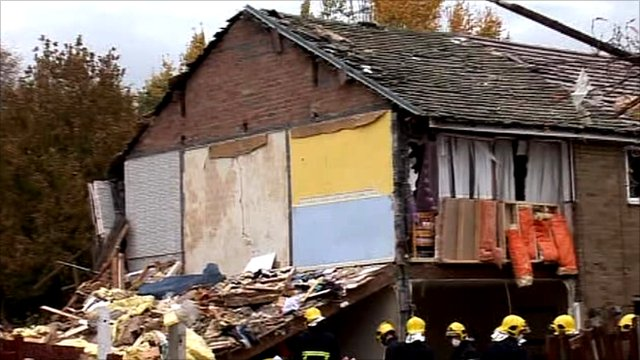 House hit by explosion
