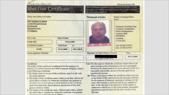 Shot gun certificate