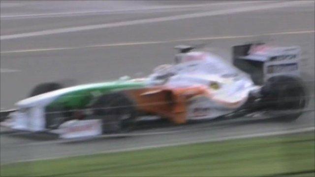 An F1 car