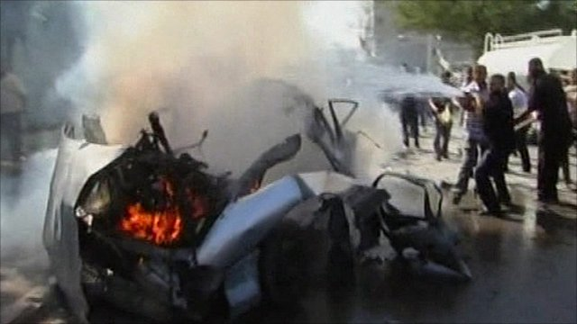 Gaza car explosion