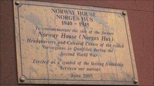 Norwegian army plaque