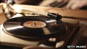 A gramophone record