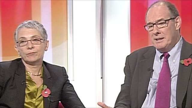 Melanie Phillips and Will Hutton