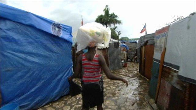 Port-au-Prince refugee camp