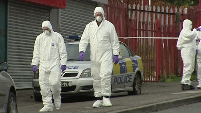 Police forensics at the scene