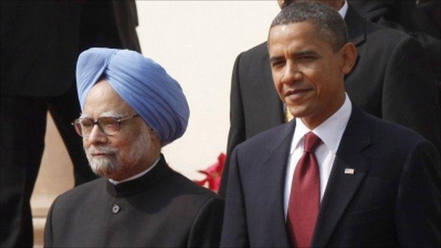 President Barack Obama with India's Prime Minister Manmohan Singh