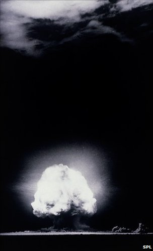 First atomic bomb explosion