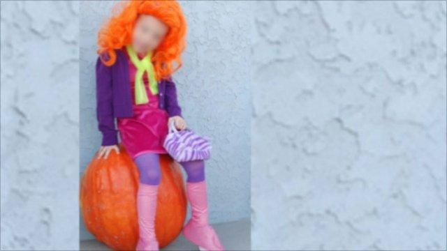 5-year-old boy as Daphne