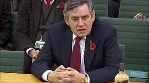 Gordon Brown at the international development committee