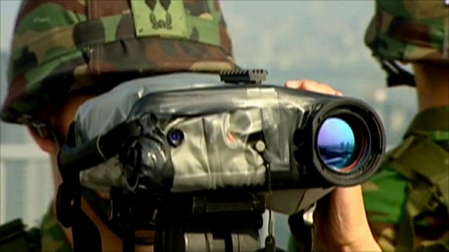 South Korean soldier on alert