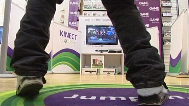 Games fan dancing