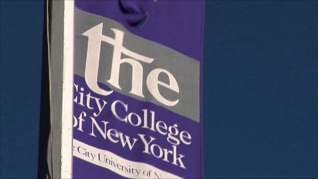 University banner in New York