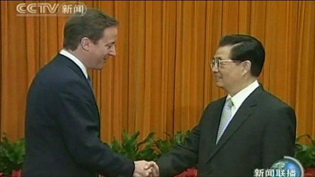 Prime Minister David Cameron and President Hu Jintao