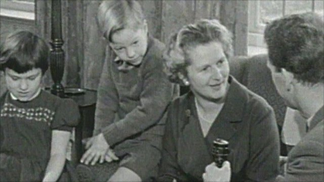 Margaret Thatcher is interviewed on her first being elected to Parliament
