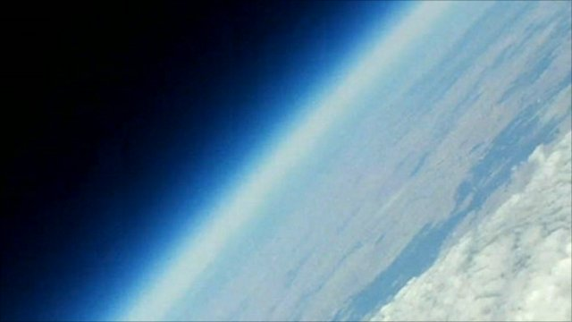 Stunning images captured by a camera on the balloon