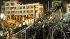 The scene of the blast in Karachi, Pakistan
